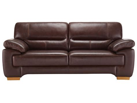 Clayton 3 Seater Sofa In Brown Leather Oak Furniture Land Recliner Sofas And Chairs