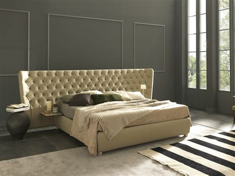 double bed with tufted headboard selene extra large by
