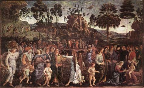 ta house painters pietro perugino de reis van mozes naar egypte bijbel en kunst