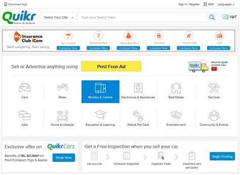 quikr mobile app the official quikr app updated in windows store with