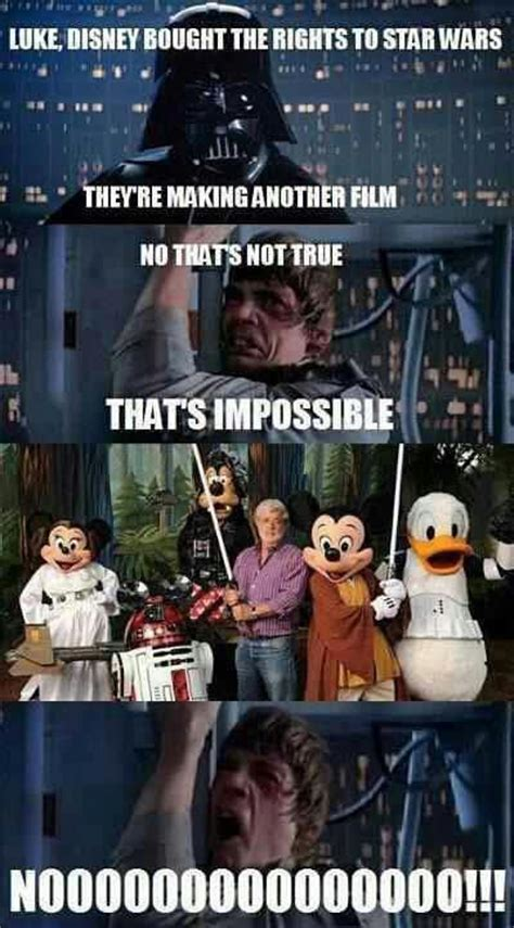 Star Wars Disney Meme - disney bought the rights to star wars star wars know