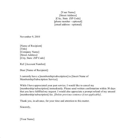 cancellation letter company how to write a cancellation letter tomyumtumweb