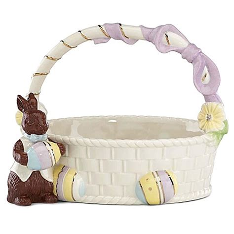 bed bath and beyond easter lenox 174 chocolate easter bunny basket figurine bed bath