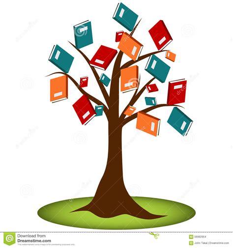 tree books book reading knowledge tree stock vector image 56992954
