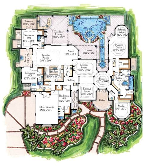 breathtaking luxury contemporary tropical home floor plans design luxurious floor plans