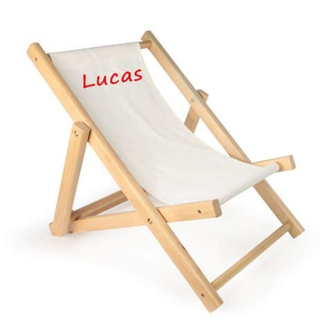 chaise longue enfant chaise longue personnalis 233 e avec pr 233 nom enfant