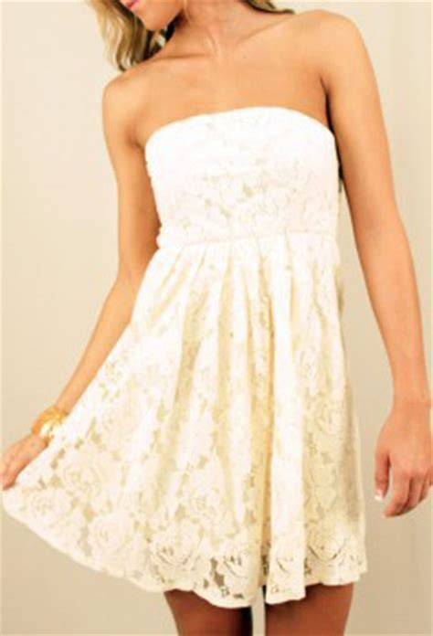 white lace dress with brown belt dresses trend