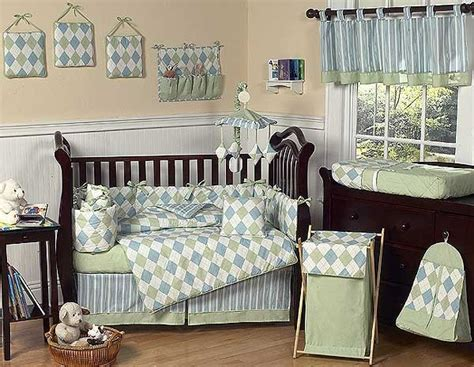 Blue And Green Argyle Crib Bedding Set By Sweet Jojo Blue And Green Crib Bedding Sets