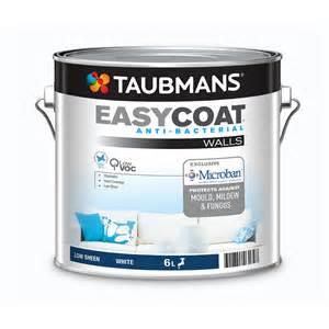 taubmans interior paint taubmans easycoat 6l low sheen white interior paint