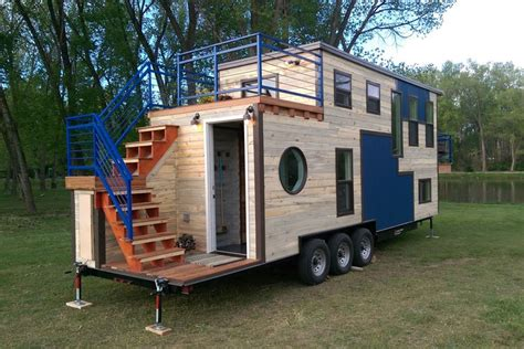 tiny mobile tiny mobile ski lodge with open deck and balcony