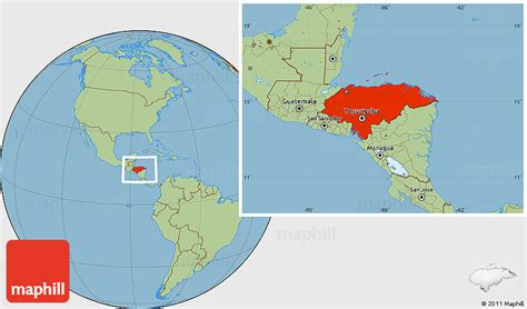 where is honduras located on the world map savanna style location map of honduras