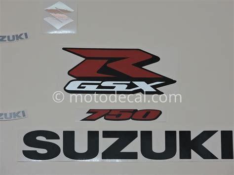 Suzuki Gsxr 750 Decals Suzuki Gsx R 750 2006 Black Decal Kit By Motodecal