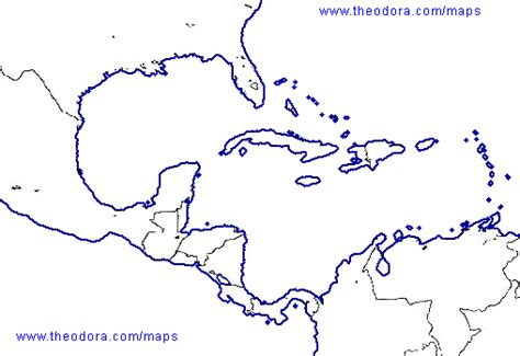 blank map of and central america slavery project intro