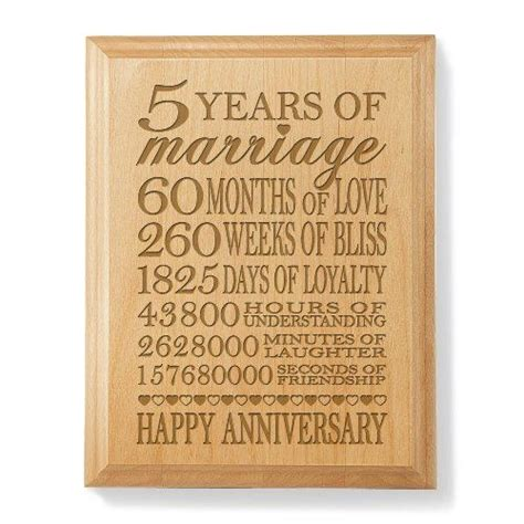 25 Best 5th Anniversary Ideas On Pinterest 5th 7 Year Wedding Anniversary Traditional Gift