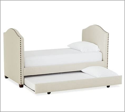 Daybed Trundle Bed Raleigh Upholstered Daybed With Trundle Modern Daybeds By Pottery Barn