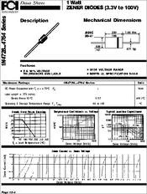 zener diode datasheet 1n4733 1n4733 datasheet discrete diodes zener