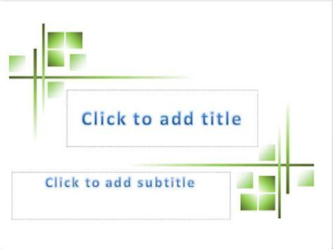 green shape powerpoint templates