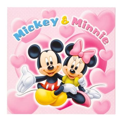 Mickey And Minnie Disney Import Preloved other toys fujicolor photo mount disney mickey minnie 6 switch character pink 15731 japan