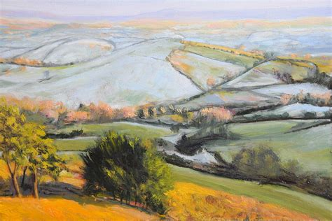 Landscape Artists Wales Landscape In Winter Painting By Harry Robertson
