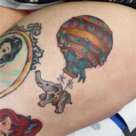 elephant balloon tattoo 54 incredible hot balloon tattoos