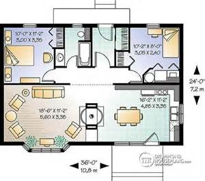 Small House Plans With Open Floor Plan by House Plan W2923 Detail From Drummondhouseplans Com