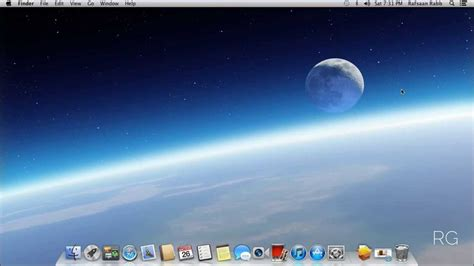 osx top bar how to put your name on the menu bar mac os x youtube