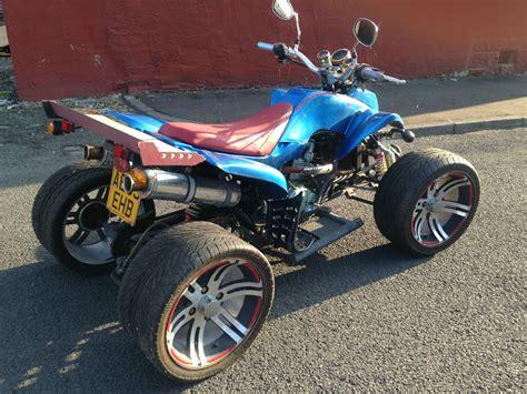 xs blue quad bike road legal  cc  raptor dilini