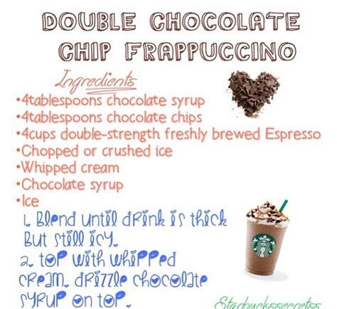 chocolate chip frappe starbucks