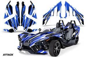 Slingshot sl roadster graphic kit wrap decal 2015 attack blu ebay