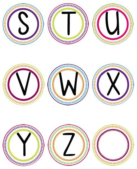printable alphabet in circles best 25 word wall letters ideas on pinterest word wall
