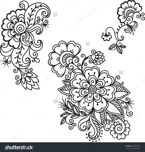 henna flower tattoos henna flower template mehndi mehndi
