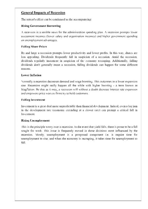how to write a good essay on economic recession