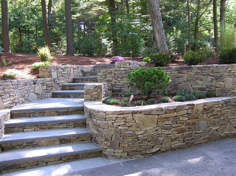 Retaining Wall Backyard Landscaping Ideas 1000 Images About Landscaping Hillsides And Retaining Walls On Pinterest Retaining Walls