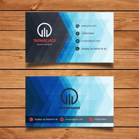 abstract business cards templates free blue abstract business card template vector free