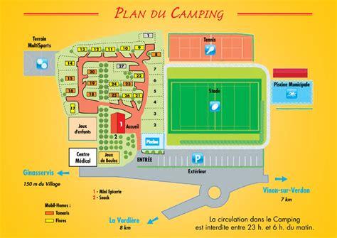 Plan du camping Ginasservis