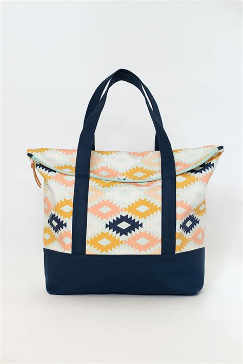 tote bag pattern pdf the senna tote pdf sewing pattern