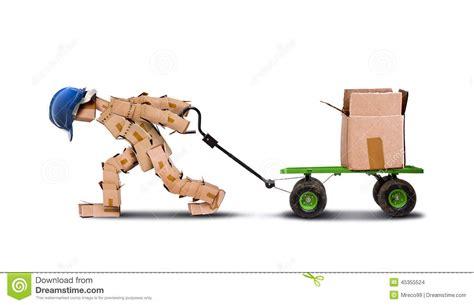 dragging but workman dragging large load stock illustration image 45355524