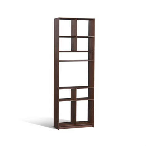 Narrow Bookcase M Natural Stained Maple Wood Tall Thin Narrow Billy Bookcase
