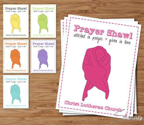 Prayer Shawl Card Template by Flat Cards Wrap Collection