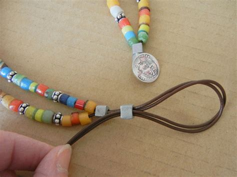 how to make bracelets with easy to make leather and trade bead wrap bracelet rings