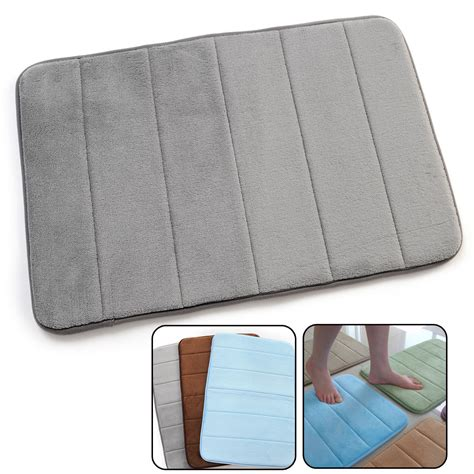 new memory foam bath shower mat water absorbing non slip