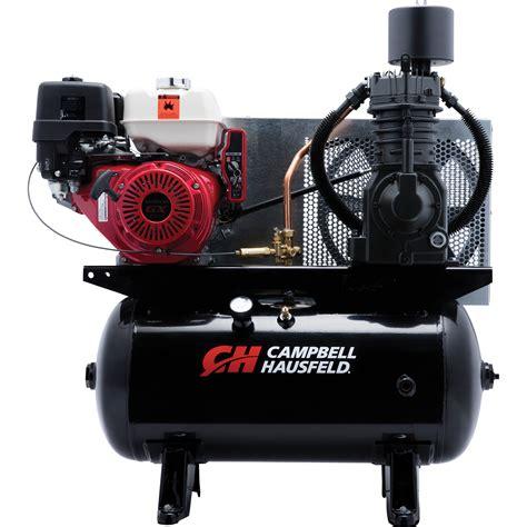 cbell hausfeld service truck series air compressor 13 hp honda gx390 engine 25 1 cfm 175