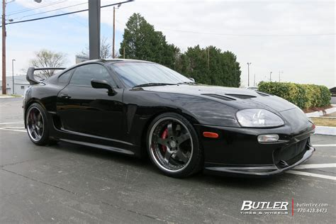 toyota supra wheels toyota supra with 19in iforged aero wheels exclusively