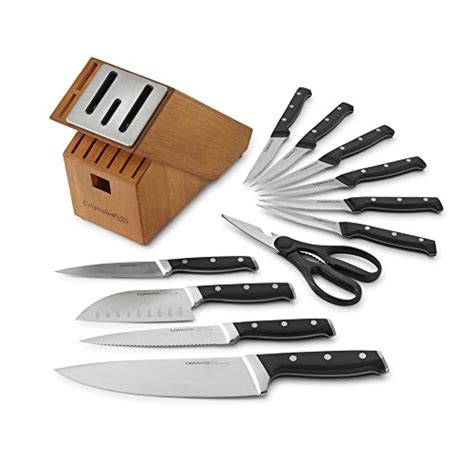 self sharpening kitchen knives calphalon classic self sharpening cutlery knife block set with sharpin technology 12