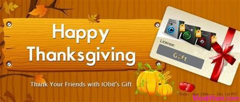 Iobit Giveaway - iobit thanksgiving giveaway advanced systemcare 7 malware fighter 2 and driver