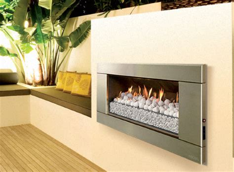escea outdoor gas stainless steel fireplace ferro front