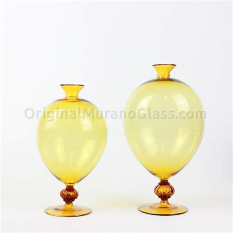 Yellow Glass Vases by Veronese Blown Glass Vases Collection Veronese Vase