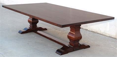 Distressed Trestle Dining Table Dining Table Or Trestle Table In Distressed Cherrywood For