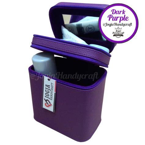 Pouch Tas Kosmetik Size 175x7x12cm Makeup Pouch Tas Kosmetik Susun Compartmen Purple