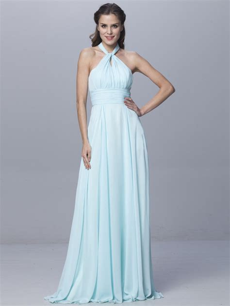 Bright Blue Wrap Dress - convertible wrap light blue infinity dress bridesmaid